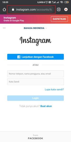 Masuk ke Laman Instagram