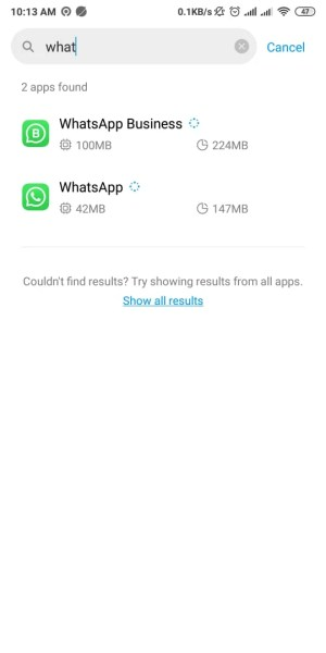 Search Whatsapp