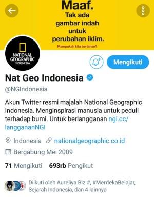 Akun Twitter @NGIndonesia