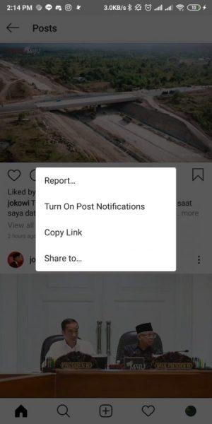 pilih copy link