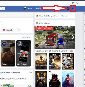 klik icon panah ke bawah