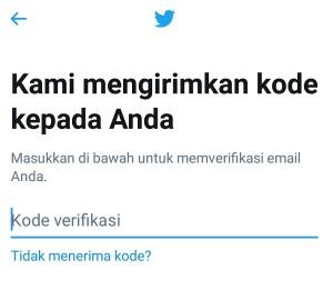 Tahap verifikasi email