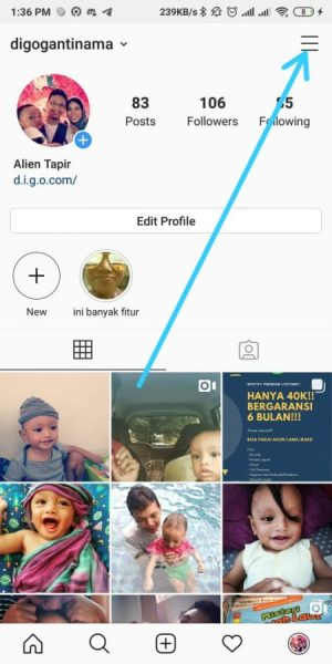 Halaman Awal Instagram