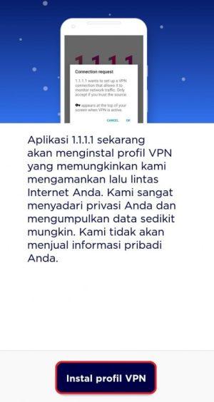 "Pilih ""Instal Profil VPN"" untuk melanjutkan instalasi"