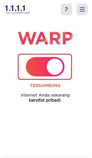 VPN sudah berhasil diinstal dan di aktifkan