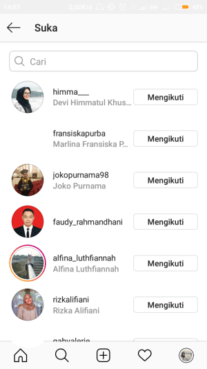 urutan like di instagram