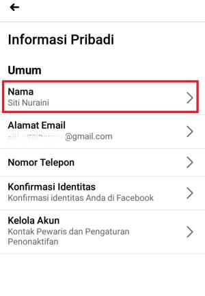 klik menu nama