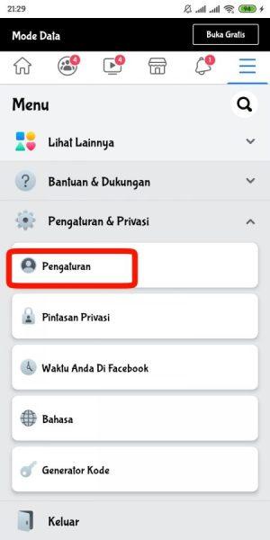 Cara mematikan suara like facebook
