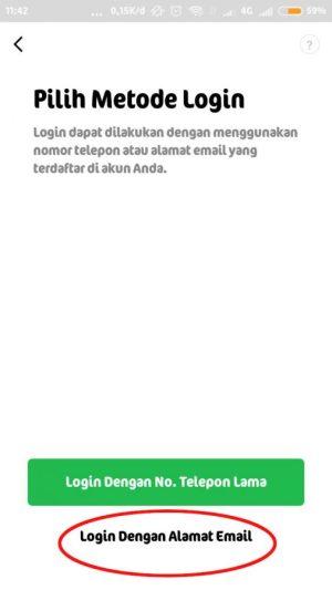 login dengan menggunakan email