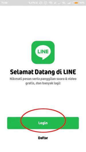login akun line