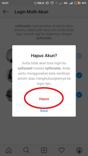 """tap """"hapus"""""""