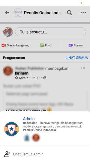lencana admin di grup facebook