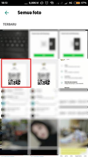 pilih gambar yang memuat kode QR