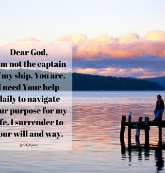 God is the captain of my ship
