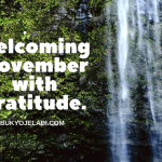 November: The Month of Thanksgiving