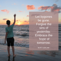 Let Bygones Be Gone.