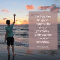 Let Bygones Be Gone.