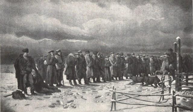 Mapa myśli - Pochód na Sybir - Artur Grottger, 1867 rok