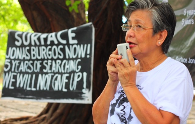 Mrs. Burgos disappointed over promotion of general linked to abduction of Jonas