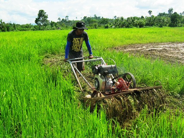 An example of livelihood aid to increase farmers' productivity in Samar - providing work tools -- but the military reportedly suspect that this is NPA project. (Photo courtesy of EVRAP)