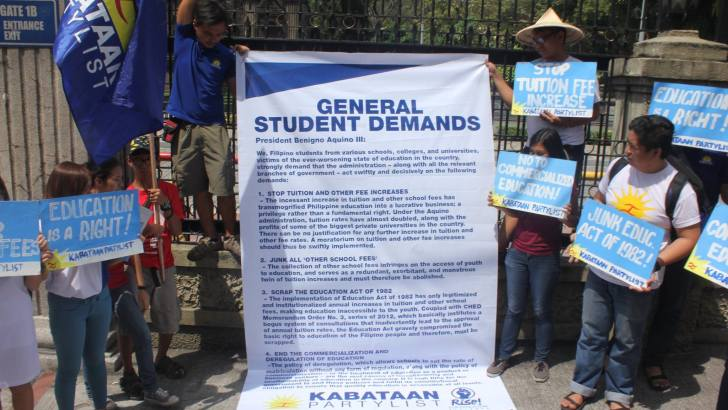 'If Aquino has a heart' | Youth groups set 4-point demand on education