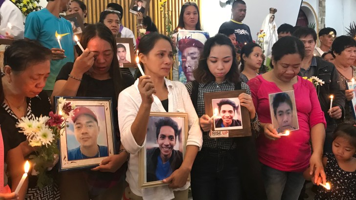 Families of EJK victims give tribute to loved ones in mass