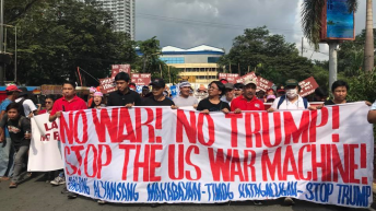 Moderated voices in ASEAN, protest rallies against Trump