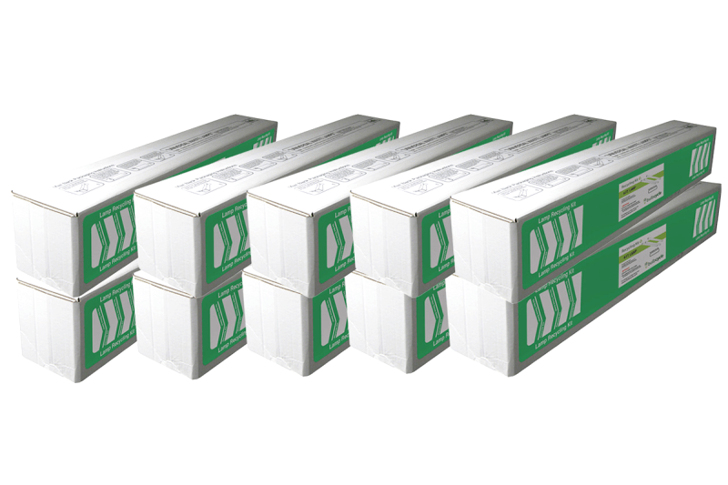 BulbCycle 10 pack 4 foot fluorescent lamp recycling kits