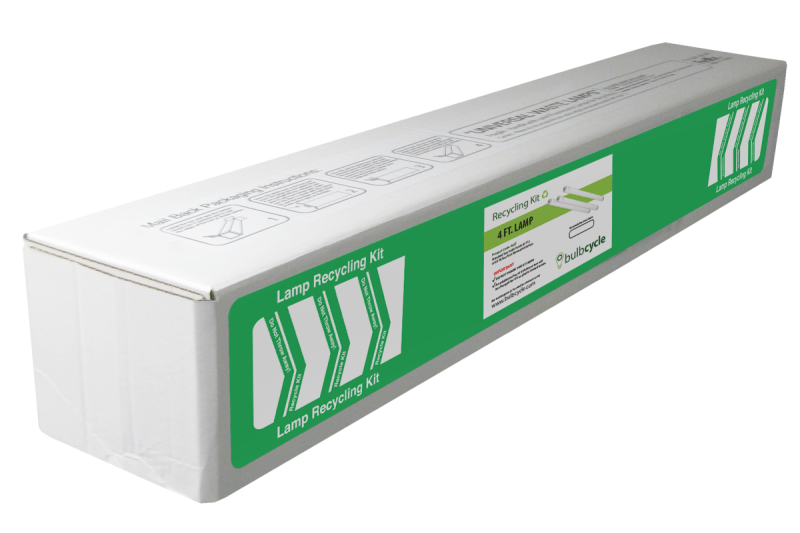 BulbCycle 4 foot fluorescent lamp recycling kit standard