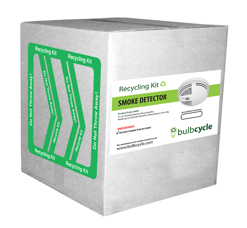 Smoke Detector Recycling Box (Holds up to 15 pounds)