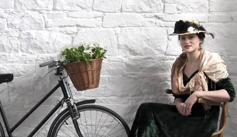 The beautiful Anne Guivarc'h from Brittany in France at the official launch of the Bulfin Heritage Cycle Rally
