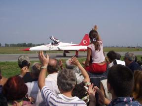 """The """"Turkish Stars"""" were the highlight of the airshow."""