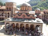 Rila Monastery, Church in enclosed courtyard.