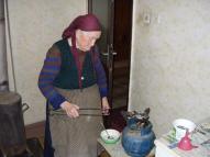 Baba Raina at her work.
