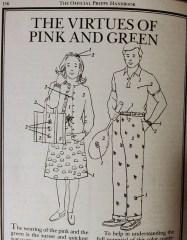 pink and green official preppy handbook halloween costume