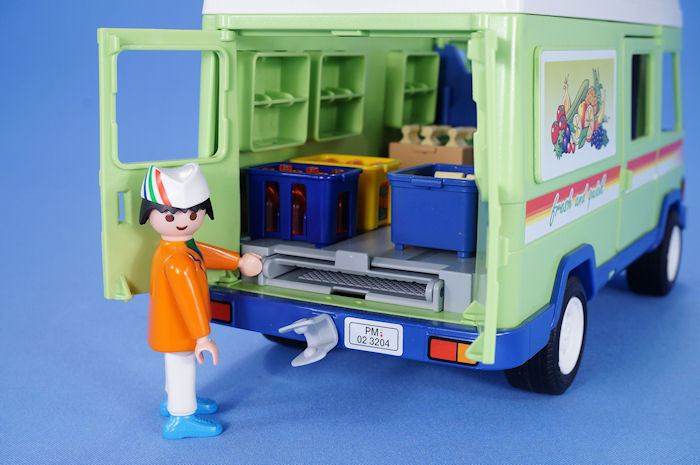 PLAYMOBIL SUPERMARKET GROCERY DELIVERY VAN WITH LOTS OF FOOD MOBILE SHOP 3204  eBay