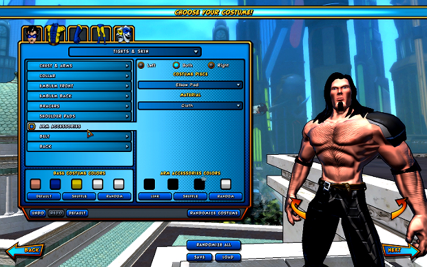 Creating Brad Nicholson in Champions Online is easy