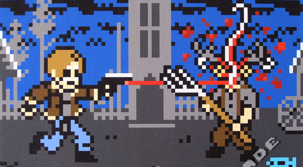 RE4 Pixel Art Sums Up A Classic Moment