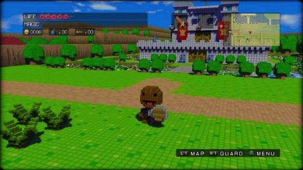 Sackboy Of LittleBigPlanet Playable In 3D Dot Game Heroes