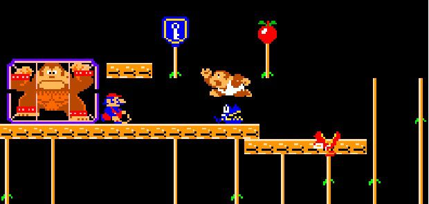Mario dans Donkey Kong Junior