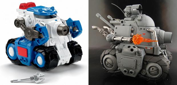 Custom Metal Slug vehicle converted from FisherPrice toy