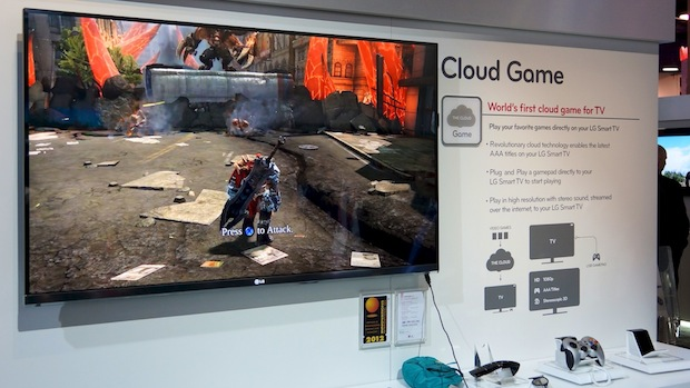CES LG Televisions With Streaming Cloud Gaming Built In