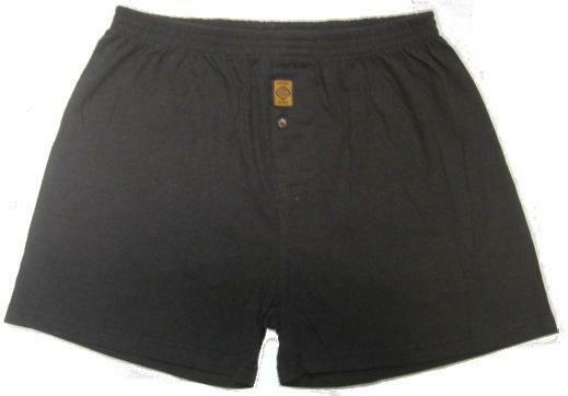 Hemp Organic Cotton Men's Boxers - Black