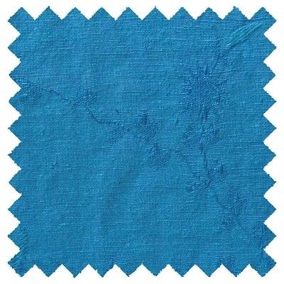 Hemp Silk Fabric 5oz - Celestial Blue with Floral Pattern