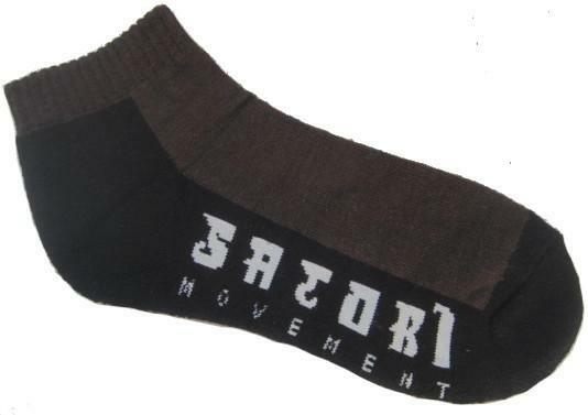 Satori Movement Hemp Crew Ankle Socks - Chocolate Brown & Black