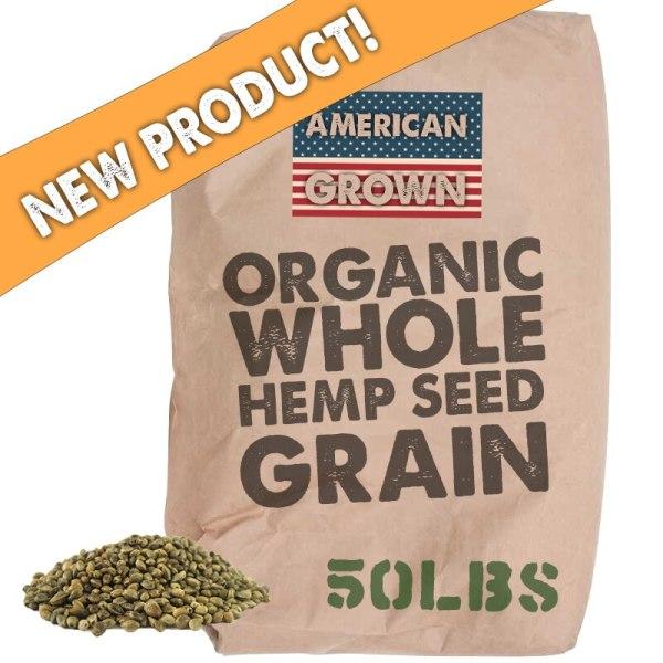 Organic Raw Hemp Seed Grain - 50lbs