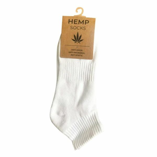 White Hemp Socks Ankle One Size Fits Most