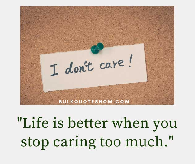 stop caring too much