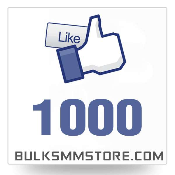Real 1000 Facebook Page Likes