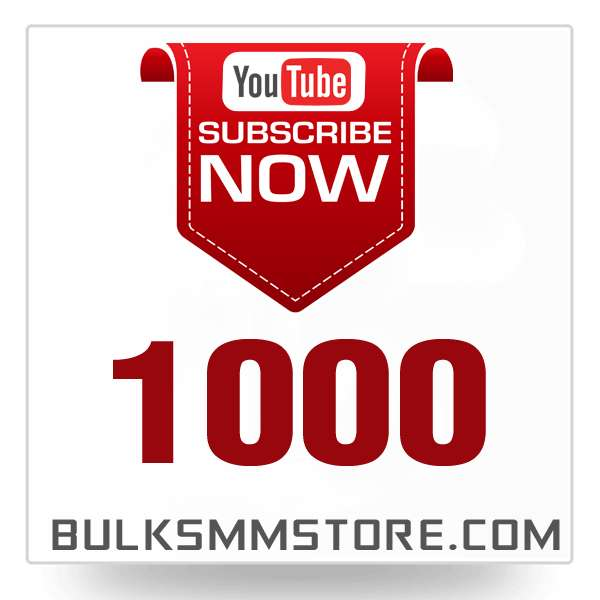 Real 1000 Youtube Subscriber
